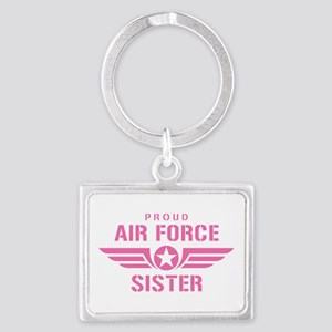Proud Air Force Sister W [pink] Landscape Keychain